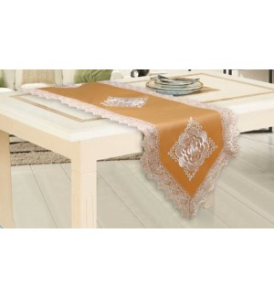 """EMBROIDERED TABLE RUNNER  - 16""""X54""""  - 24/BOX"""