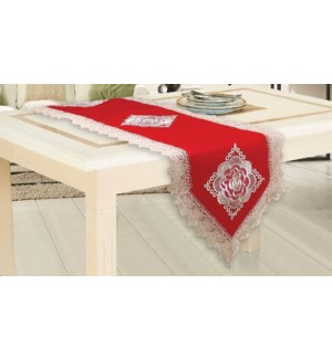 """LACE TABLE RUNNER  - 16""""X54""""  - 24/BOX"""
