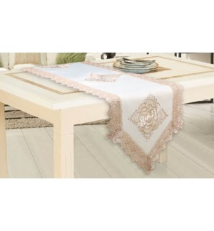 """LACE TABLE RUNNER  - 16""""X36""""  - 24/BOX"""