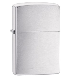 Slim Brushed Finish Chrome Zippo