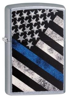 Blue Line Zippo