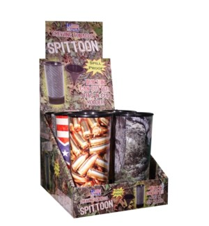 Spill Proof Tobacco Spittoon with Can Cutter