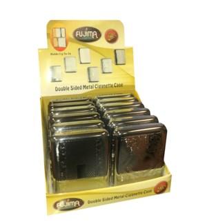 Dbl. Side Metal Cigarette Case - King's