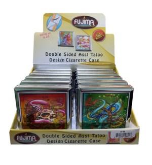 Dbl. Side Assorted Tattoo Design Cigarette Case