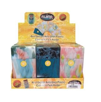 Asst. Design Hand Open Plastic Cigarette Case - King's
