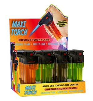 Clear Maxi Torch Lighters