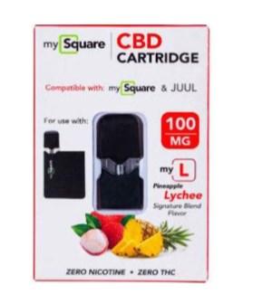 MySquare CBD Cartridge - Lychee & Pineapple