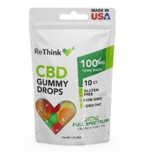 ReThink CBD Gummy Drops - 100 mg