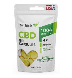 ReThink CBD Gel Capsules - 100 mg