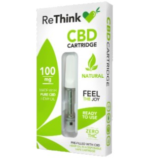 ReThink CBD Vape Cartridge - Natural / 100mg