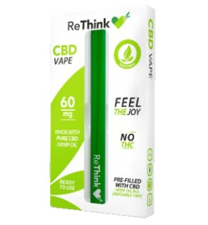 ReThink CBD Disposable Vape Pen - 60mg