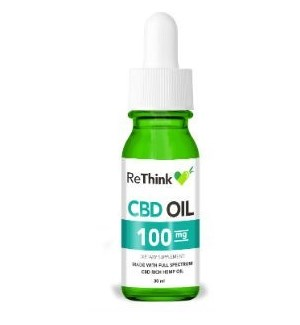 ReThink CBD Tincture Oil - 100mg