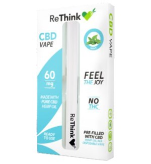 ReThink CBD Disposable Vape Pen - Mint / 60mg