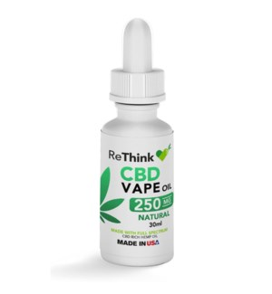 ReThink CBD Vape Oil - Natural / 250mg