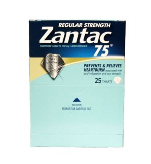 Box Zantac 75 (25 pouches per box)