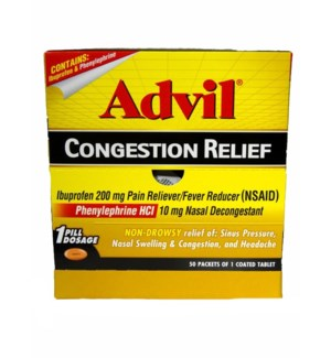 Box Advil Congestion (50 pouches per box)