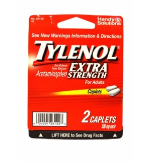 HS Extra Strength Tylenol - 2 Pack