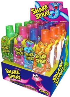 Snake Spray Candy (16 Pc. Display)