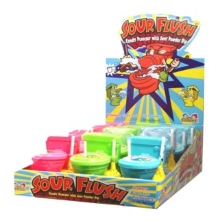 Sour Flush Candy Plunger (12 Pc. Display)