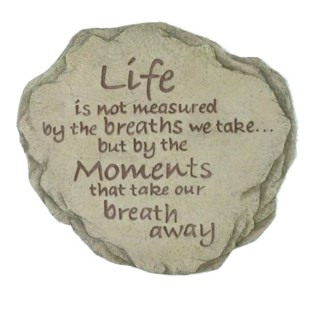 Life Isn't Measured Stepping Stone