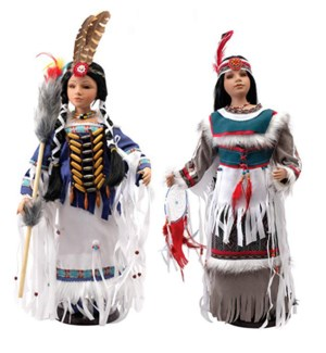 "18"" Native American Dolls"