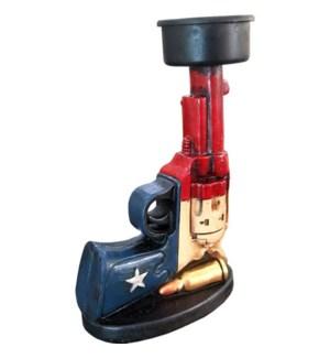 Texas Gun Candle Holder
