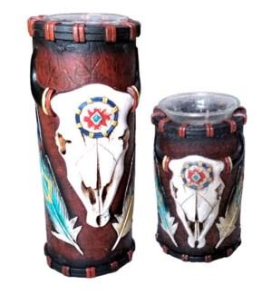 Cow Skull Designed Candle Holder