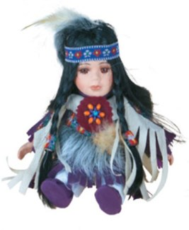 Porcelain Indian Doll