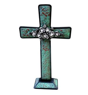 Standing Turquoise Cross
