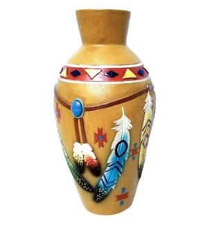 Indian Feather Vase