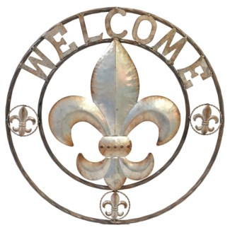 Fleur de Lis Welcome Sign