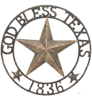 "24"" God Bless Texas Sign"