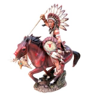 Chief on Horse with Spear