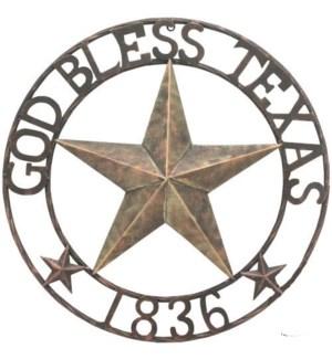 "34"" God Bless Texas Sign"