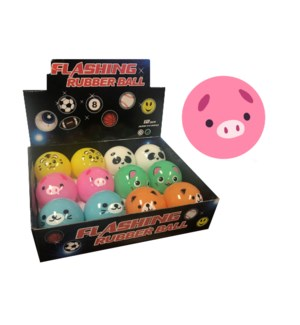 Flashing Rubber Ball - Animals