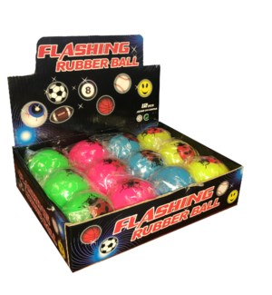 Flashing Rubber Ball -Bugs