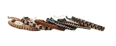 Assorted Leather Braid Bracelets