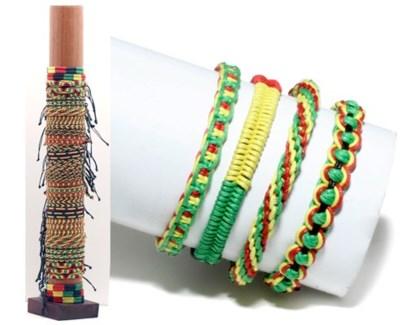 Assorted Rasta Woven Bracelets