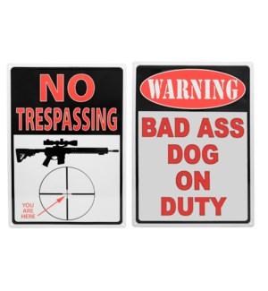 Metal No Trespassing Signs