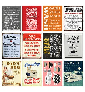 Metal Novelty Signs