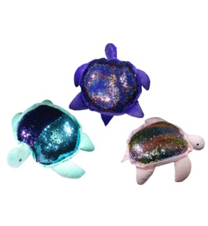 Sequin Turtle Pillow