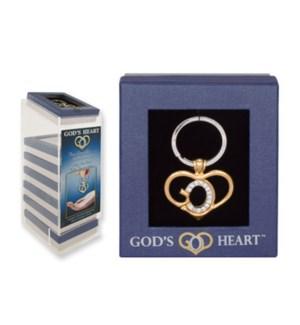 God's Heart Keychain Display