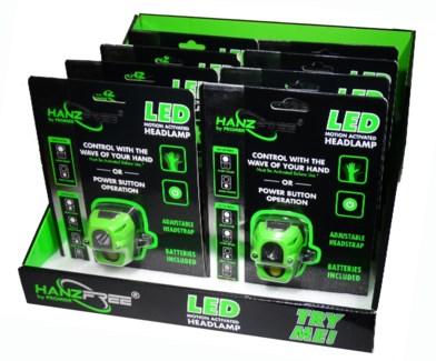 Motion Control Headlight (8 Pc. Display)