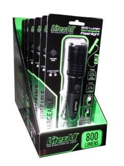 Rechargeable 800 Lumen Flashlight