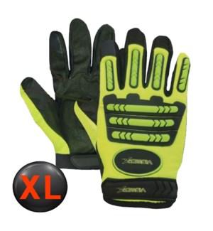 Hi Visibility Mechanic Gloves - XL