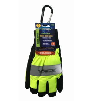Hi-Vis Winter Work Gloves - Large