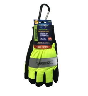 Hi-Vis Winter Work Gloves - Extra Large