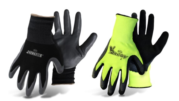 Nylon Gloves with Nitrile Coated Palm