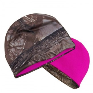 Camo & Pink Reversible Beanie