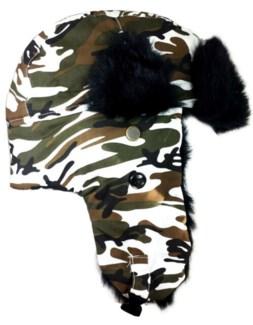 Trapper Hat - Black Cotton
